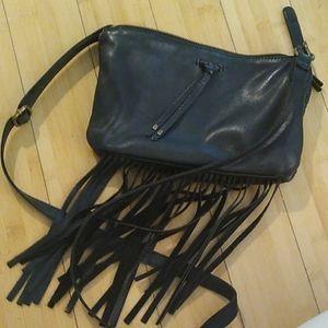 Leather crossbody black lucky brand purse